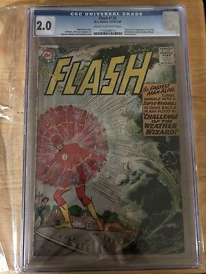 The Flash #110 Cgc 2.0 1St Appearance Of Kid Flash & Weather Wizard