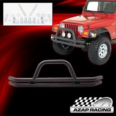 Blk Powder Coated SS Front Grille Guard Fits 76-86 CJ-7&-5 & 87-06 Jeep Wrangler
