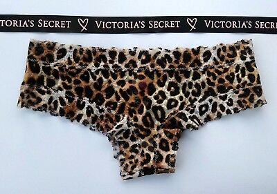 Victorias Secret LEOPARD Allover Lace Cheeky SEXY Panty Panties NWT S M Animal