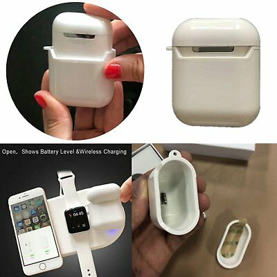 Wireless Charging Case Cover Box Charger for Apple AirPods Bluetooth Earphones