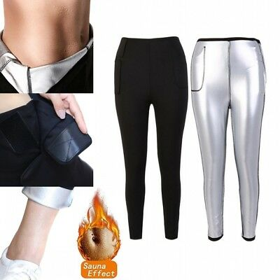 AU Women Lady Slimming Pant Hot Neoprene Body Shaper Fat Burner Sport Yoga Sauna
