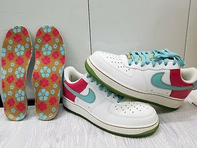 a00e8d96a22a Brand New Nike Air Force One Hawaii Edition Aqua white pink Men s Sz 8.5
