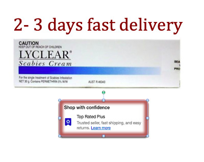 Genuine Lyclear Scabies Cream 30G 3 or 4 days fast Delivery