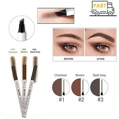 Eyebrow Tattoo Pen Liquid Waterproof Makeup Ink Sketch Fork Tip Patented Liner