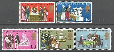 GB 1970 commemorative stamps General Anniversaries, Mint MNH complete set