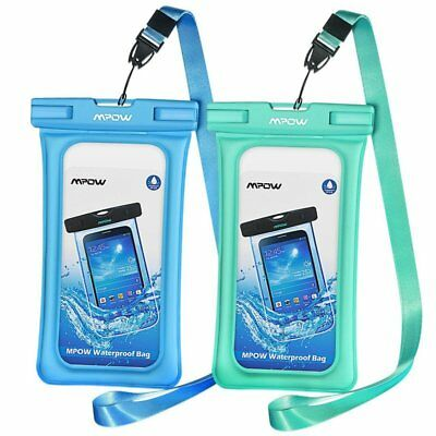 Mpow Floating Waterproof Case Universal Phone Pouch Underwater Dry Bag -- 2 Pack