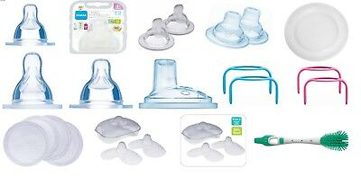 Mam Bottle All Type Accessories -Teats/Spout/Brush/Handles/Nipple Shield Etc..