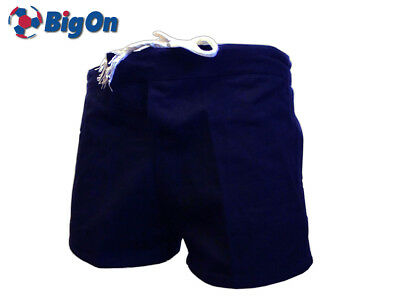 *Clearance New* Bigon Shorts - Plain Mens Rugby Cotton Short - Navy - Size 40""