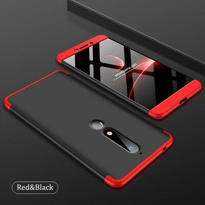 360° Full Body Cover Hard Case Shockproof+Tempered Glass For Nokia 6 6.1 2018
