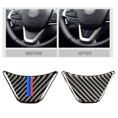 For BMW X1 F48 F45 F46 2 Tourer Car Steering Wheel Cover Carbon Fiber M Stickers