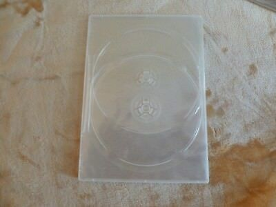 "7 mm 1/4"" DVD Movie Box FROSTED CLEAR double case New holds 2 discs *3-pack*"