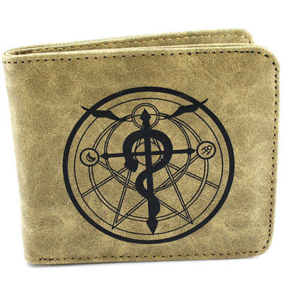 Anime Fullmetal Alchemist Edward Elric Bifold Wallet Card Holder Purse Coin Bag