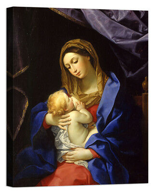 Guido Reni Madonna and Child Stampa su tela Canvas effetto dipinto