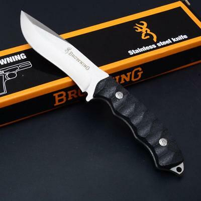 Browning Fixed Blade Hunting Knife Camping Tactical Outdoor Sheath AU Seller