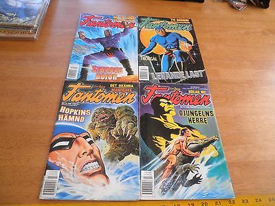 Lee Falk's Phantom 1999 Sweden color comics thick lot of 4 foreign Fantomen