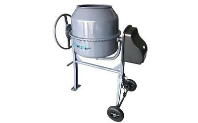 180L Portable Cement Mixer Professional Electric 650W Concrete Mortar Steel 240V
