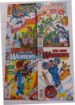 Lote De 4 Comics The New Warriors,Numeros:20,26,27,28,Forum Comics,Año 1993