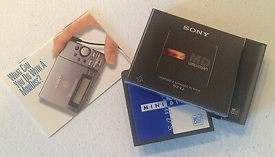 UltraVery  Rare Minidisc Sampler in Promo Simulated Sony MD Player Cardboard Box