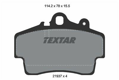4x TEXTAR Rear Brake Pads 2087702