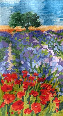 DMC Preprinted Canvas Tapestry - Lavender and Poppies