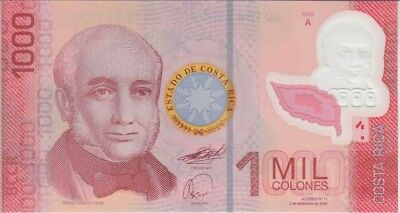 Costa Rica Banknote P274a 1000 Colones 2009 Polymer, UNC