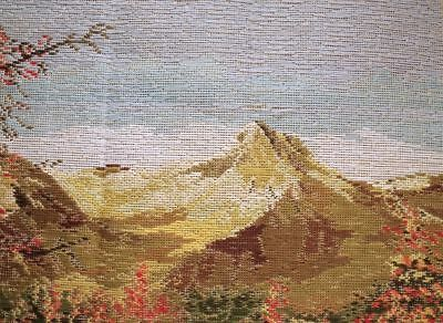 """31"""" Preworked TRAMME Needlepoint Tapestry Canvas Snow Mountain Pool Landscape"""