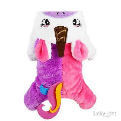 Unicorn Dog Costume for Small Pet Puppy Warm Cat Apparel Winter Clothing Holiday
