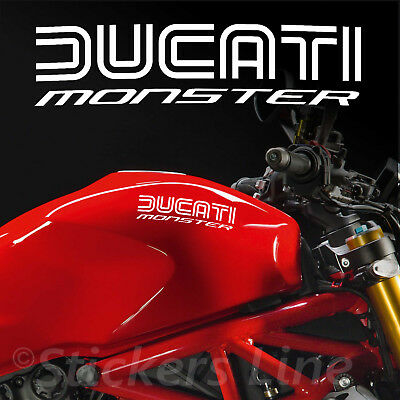 2 Adesivi serbatoio DUCATI MONSTER - Hold Style - motorcycle tank stickers MOD.1