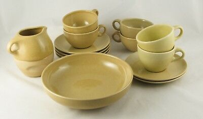 15 pc LOT Russel Wright Iroquois Avocado Dishes All Mint!
