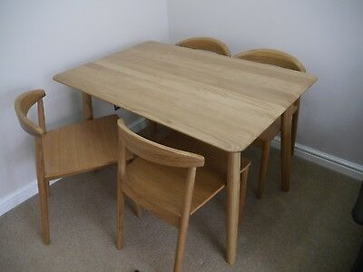 Multiyork Ellesmere Solid American Oak Dining Table And Four Chairs