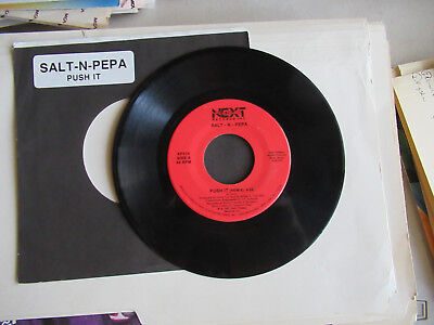 SALT N PEPA  push it remix /  same  NEXT PLATEAU   SLEEVE   45