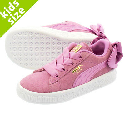 f29370eada4735 Puma Suede 36732005 Bow Orchid Pink White Infant Toddler Baby Girls Shoes  Sizes