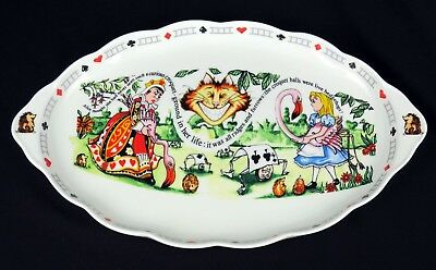 Alice in Wonderland's Cafe Cardew Design Oval Sweet Tray Mad Hatter's Teaparty