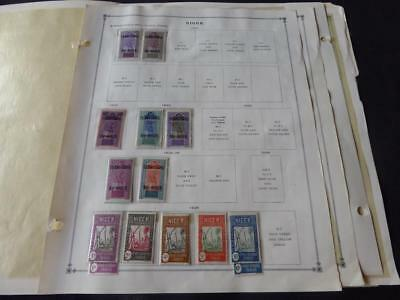 Niger & Nigeria 1914-1921 Mint/Used Stamp Collection on Scott Int Album Pages