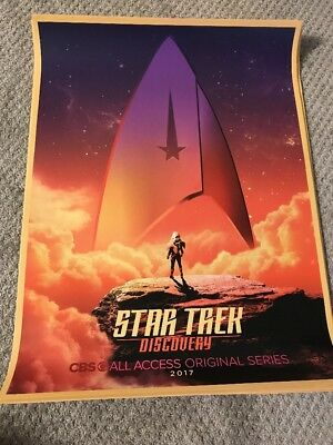 Star Trek Discovery CBS SDCC 2017 Exclusive Poster 18 X 24.