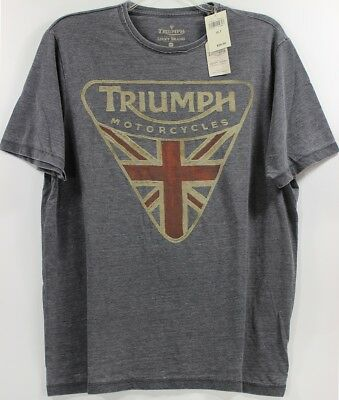 Lucky Brand Triumph Motorcycle Badge Tee Men/'s Big /& Tall 3XL NWT$59