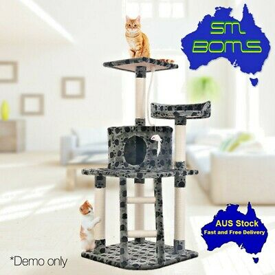 120cm Cat Tree Scratching Post Scratch Pole Gym Toy House Furniture Multi Level