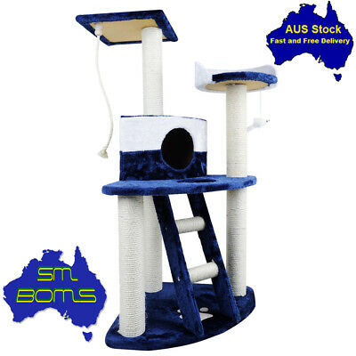 Cat Tree Scratching Post Scratcher Pole Gym House Furniture Multi Level 120cm