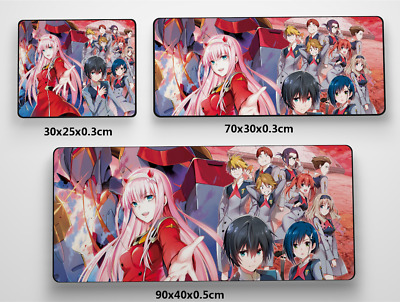 Darling in the FranXX Anime Game Mouse custom made PC Large Mats MP005