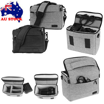 DSLR SLR Camera Bag Shoulder Messenger Carry Bag Insert Pouch For Sony Canon