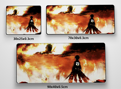 Attack on Titan online Anime Game Mouse custom made PC Large Mats MP028