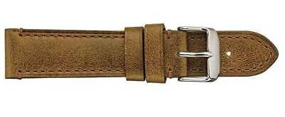 Tan Brown Handmade GENUINE Vintage Camel Leather Watch Strap Band 20MM 22MM 24MM