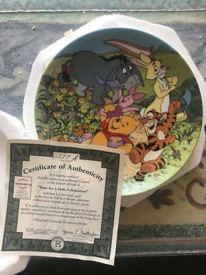 Winnie The Pooh Bradford Collector Wall plates