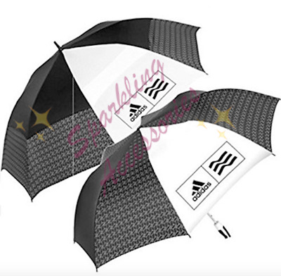 "NEW Adidas 2 Pk 58"" Sports Umbrella + 68"" Vented Golf Umbrella Nanoskin Material"