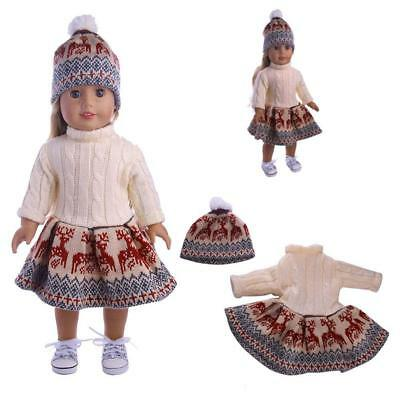Doll Clothes Dress Outfit Winter Coat Set For 18'' Girl Our Generation Doll.UK