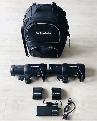 Profoto B1 500 Monolight Dual Head Location Lighting Kit Very Light Use Exc Cond