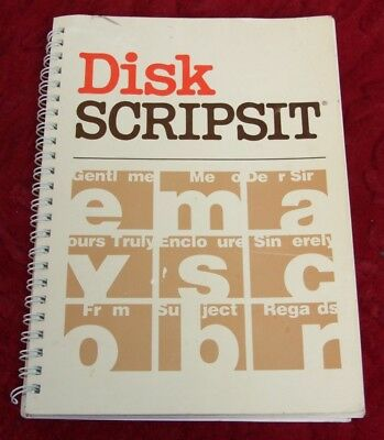 TRS-80 software: Disk Scripsit for the Model 4 / 4P