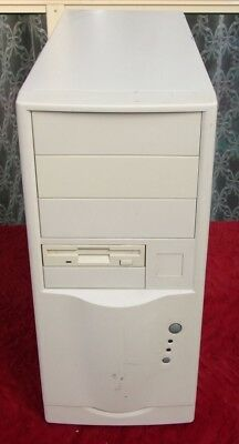 Vintage Mid-tower AT computer case from the 1990s for 286 386 486 early Pentium