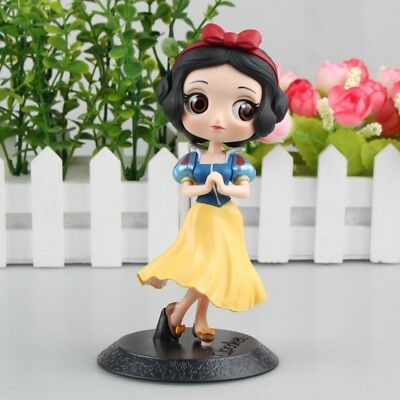 Q posket Disney Characters cute girl Princess PVC figure toy gift snow White