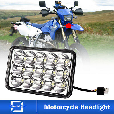 Motorbike 4X6inch LED Headlight Projector Sealed Beam Suzuki DRZ400SM DRZ400S K7